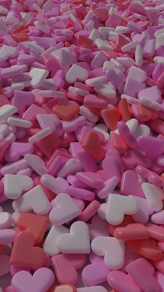 Обои на телефон счастье, шаблон, сладости, сердце, праздник, любовь, конфеты, девчачие, валентинки, love, candies