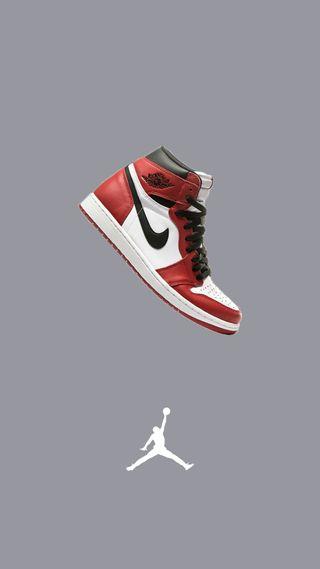 Обои на телефон обувь, серые, красые, джордан, snicker, red jordan, jordan one, jordan 1, air jordan 1