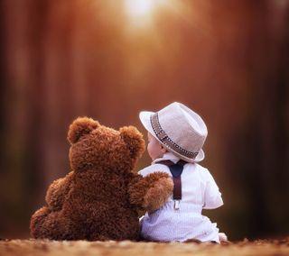 Обои на телефон тедди, друзья, любовь, лучшие, love, childhood