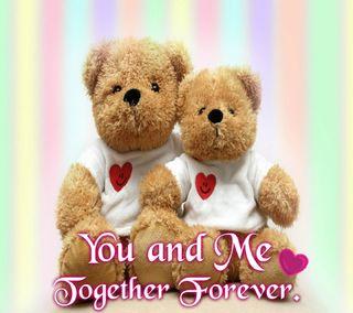 Обои на телефон навсегда, я, ты, тедди, медведи, любовь, вместе, teddy bears, i love you