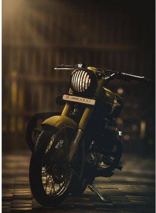 Обои на телефон чоппер, мотоциклы, классика, байк, royal enfield, classic 350 500