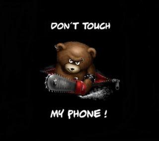 Обои на телефон не, черные, цитата, трогать, телефон, предупреждение, мультфильмы, мой, медведь, злые