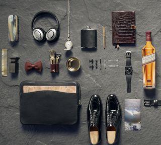 Обои на телефон виски, часы, обувь, johnnie walker, gentleman, bag