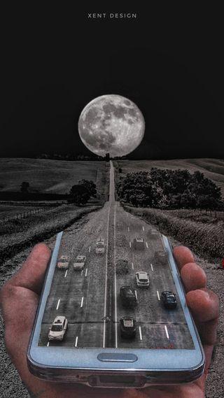 Обои на телефон джунгли, черные, трафик, путь, машины, луна, дорога, дождь, в тренде, 2019