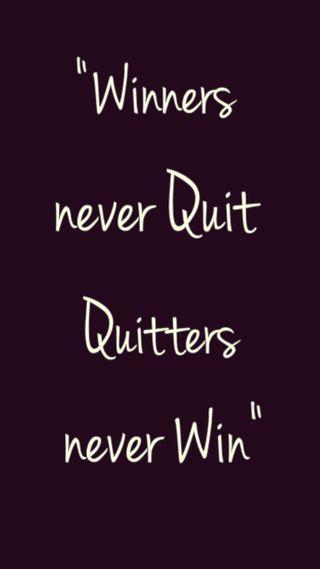 Обои на телефон никогда, winners, quitters, 2015