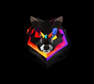 Обои на телефон многоугольник, волк, абстрактные, polygon wolf, 3д, 3d