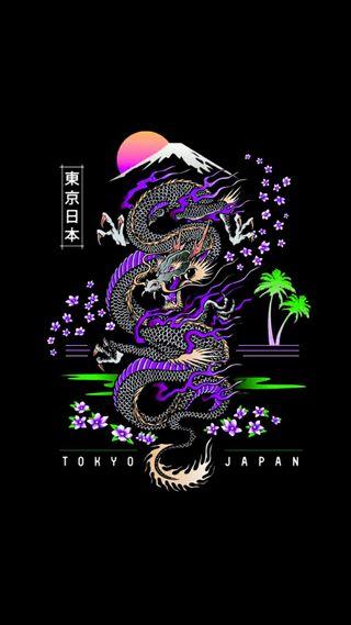 Обои на телефон японские, дракон, japanese dragon, dragon