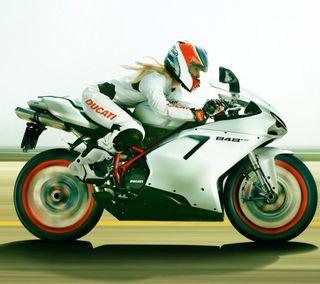 Обои на телефон мотоциклы, дукати, скорость, девушки, ducati, chaser