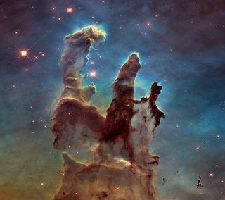 Обои на телефон туманность, космос, звезда, cosmos pillars