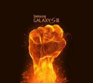Обои на телефон огонь, галактика, galaxy s3, fire galaxy s3