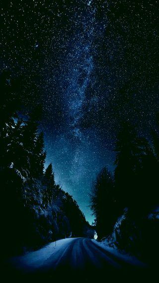 Обои на телефон оригинальные, темные, северный, ночь, небо, звезды, горы, plus