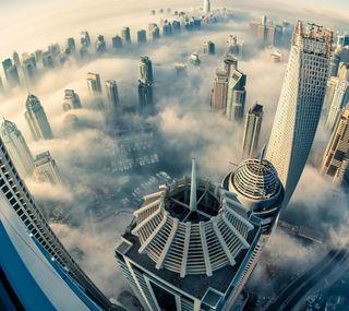 Обои на телефон топ, небо, здания, город, высокий, roof, drone, city wallpaper, aerial