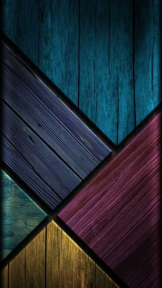 Обои на телефон деревянные, экран, цветные, красочные, дерево, грани, hd