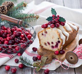 Обои на телефон вишня, торт, рождество, christmas cake