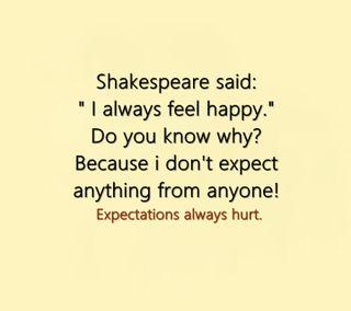 Обои на телефон цитата, счастливые, приятные, поговорка, новый, жизнь, shakespeare, happy, expect
