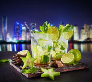 Обои на телефон свежие, напитки, лимон, лето, лед, лайм, mojito, coctail