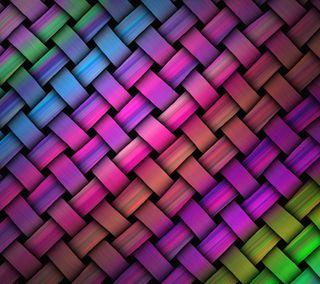 Обои на телефон твист, полосы, плести, красочные, абстрактные, weave by marika