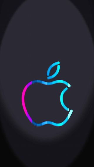 Обои на телефон светящиеся, эпл, apple