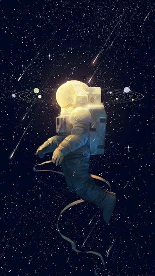 Обои на телефон космонавт, космос, звезды