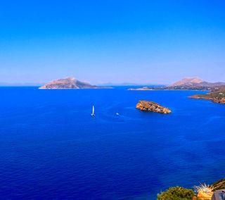 Обои на телефон храм, греция, синие, природа, праздник, пейзаж, отпуск, море, лето, sounio sea, poseidon