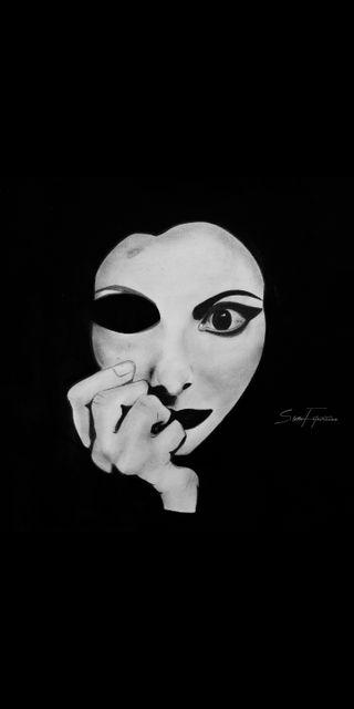 Обои на телефон женщины, черные, тьма, стиль, рисунки, белые, samfotovision, quotations, dread, black-and-white