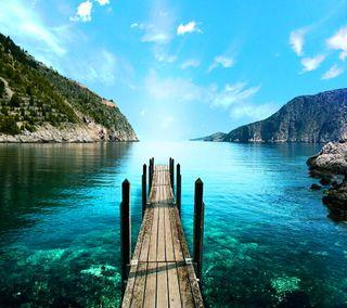 Обои на телефон небо, синие, природа, озеро, горы, вид, nature view, mountain lake blue sky, mountain lake