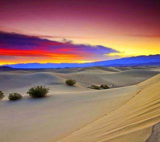 Обои на телефон сумерки, пустыня, красочные
