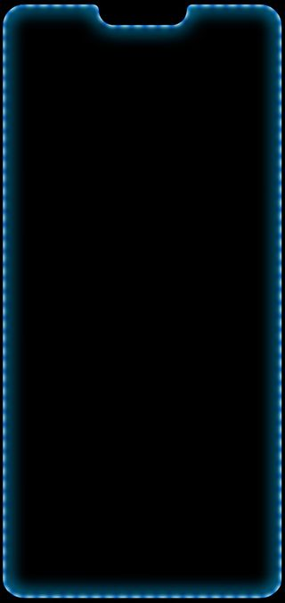 Обои на телефон синие, свет, решить, дом, грани, выемка, uhd, oneplus6, oneplus 6 blue, oneplus 6, oneplus, hd