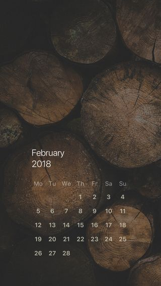 Обои на телефон природа, календарь, деревья, дерево, rustic, firewood, fireplace, february, 2018