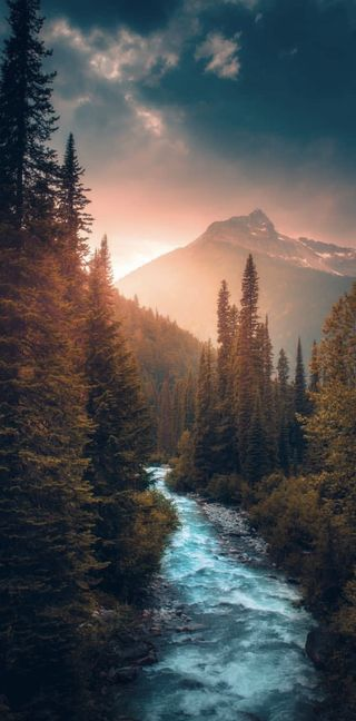 Обои на телефон река, природа, flows