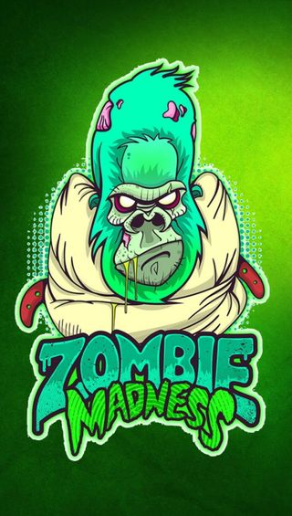 Обои на телефон зомби, горилла, безумие