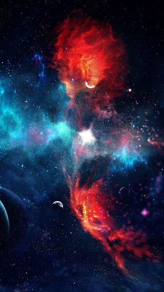 Обои на телефон аврора, туманность, космос, галактика, вселенная, galaxy
