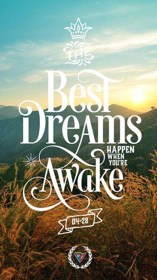 Обои на телефон мечты, природа, высказывания, happen, awake
