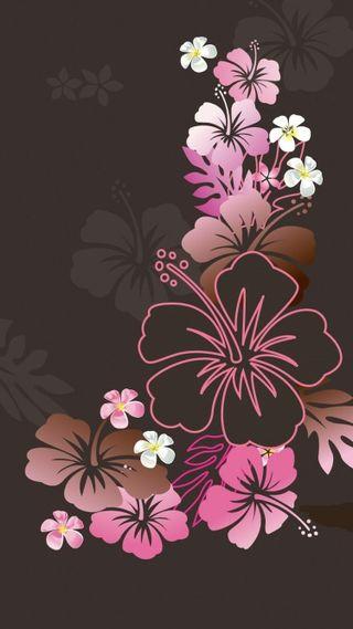 Обои на телефон девчачие, цветы, розовые