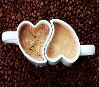 Обои на телефон кофе, сердце, любовь, love, hd