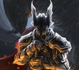 Обои на телефон рыцарь, дракон, dragon