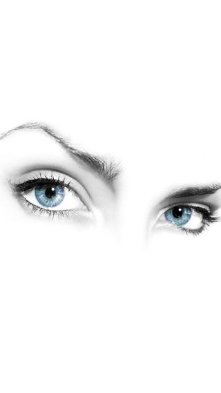 Обои на телефон глаза, синие, distrubing