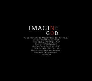Обои на телефон представить, вера, бог, imagine no-god, atheist, atheism