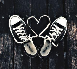 Обои на телефон обувь, сердце, любовь, кружево, конверсы, love, lace up, chucks, chuck taylor