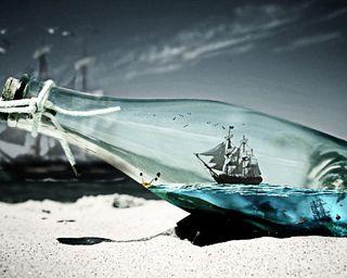 Обои на телефон корабли, океан, акула, sealing, botlle