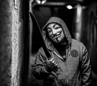 Обои на телефон маска, maceta, anonimus