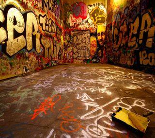 Обои на телефон комната, граффити, graffiti-room