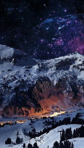 Обои на телефон фото, природа, пейзаж, зима, горы