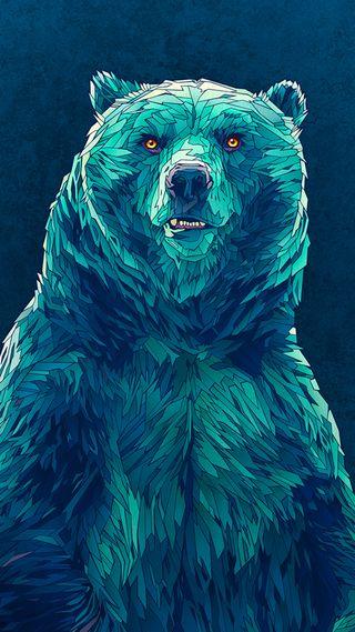 Обои на телефон рык, медведь, медведи, grizzly
