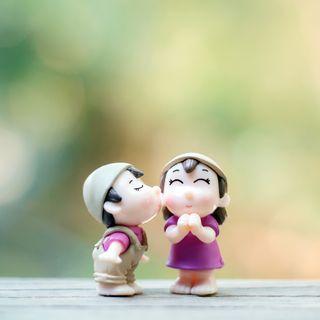 Обои на телефон пары, дети, поцелуй, милые