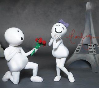 Обои на телефон чувства, милые, любовь, девушки, zoozoo propose, love