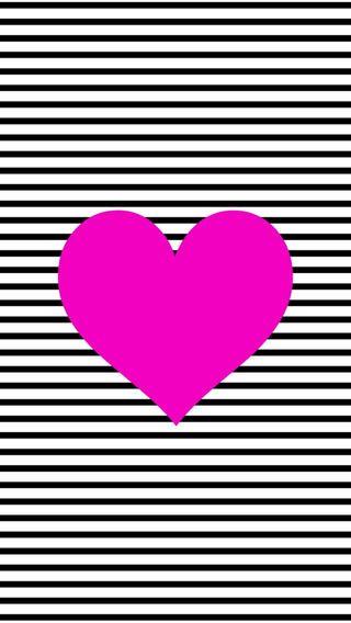 Обои на телефон сердце, розовые