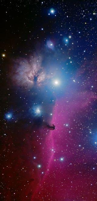Обои на телефон galaxy, plus, синие, галактика, темные, небо, космос, звезды, вселенная, туманность, солнечный