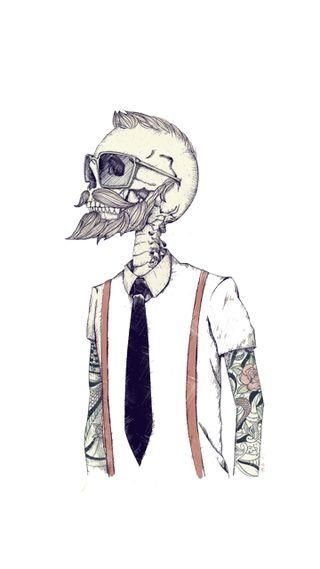 Обои на телефон люди, череп, хипстер, современные, галстук, борода, абстрактные, sunglass, man, ios, hipsteer