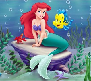 Обои на телефон my little mermaid, мультики, маленький, мой, русалка